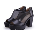 朵牧2014春季新款欧美时尚高跟女鞋真皮