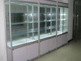欣雪展示柜高档钛铝合金高柜饰品陈列柜汽车用品玻璃精品展示架
