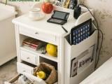 外贸原单~床头柜 简约现代 风格实木床头柜收纳储物柜