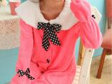 外贸冬季女士珊瑚绒家居服长袖女生睡衣厂家直销批发免费代理