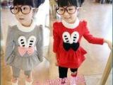 童装2014女童韩版秋装可爱兔子休闲加厚两件套套装厂家直批