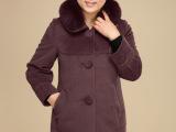 狐狸毛领秋冬保暖女式毛呢风衣外套 热销新品 正品依琳彤女装