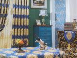 许村厂家直销高档别墅加厚色织雪尼尔提花欧式沙发窗帘面料