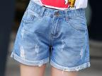一件代发牛仔短裤女2015新款夏季学生显瘦卷边宽松磨破洞AA热裤子