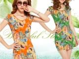 新款韩版大码女夏显瘦包臀裙背心打底裙子修身短袖连衣裙
