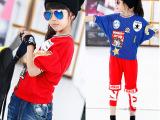 米米果家中大女童装2014九分袖针织衫贴标弹力蝙蝠衫薄款宽松T恤