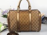 2014爆款 金皮金丝布圆桶包 枕头包 手提斜挎女包包 高品质