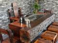 白城市老船木家具茶桌茶台办公桌餐桌沙发茶几吧台椅子实木门窗