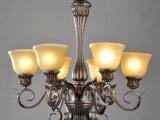 欧式吊灯批发 吊灯 欧式仿古树脂玻璃灯罩
