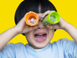 厂家供应迷你万花筒 旋转儿童塑料益智玩具 创意玩具可混批