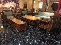 红木沙发 缅甸花梨木新中式雍王盛世沙发10件套 刺猬紫檀