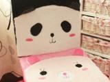 创意可爱卡通动物熊猫兔子 舒棉绒毛绒沙发垫/汽车坐垫/餐椅坐垫