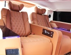 悍马H2航空座椅改装 后排两座真皮座椅改装 内饰改色真皮包覆