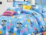 好江南 全棉卡通小猫咪家纺布料 幼儿园三件套床上用品面料 批发
