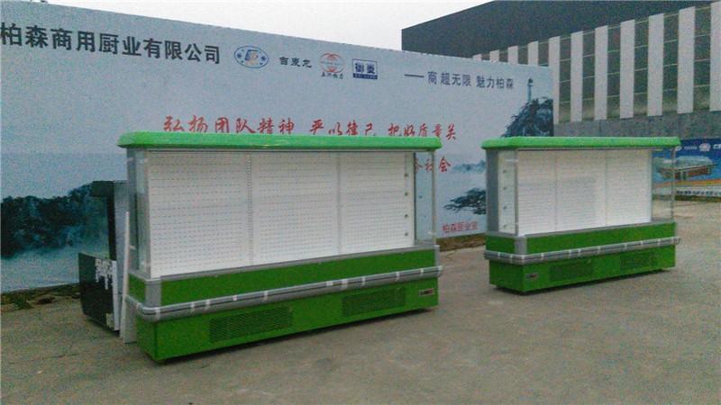 菏泽风幕柜 环岛风幕柜定做设计带门立式风冷柜水果保鲜柜厂家