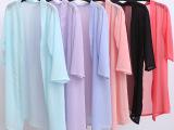 2016夏新款雪纺衫中长款防晒衣 外搭大