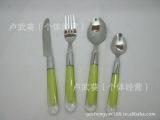 批发供应出口塑胶柄不锈钢餐具,出口非洲,中东,南美洲,东南亚