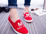 2015春帆布鞋女夏一脚蹬懒人鞋休闲布鞋学生板鞋字母套脚平底单鞋