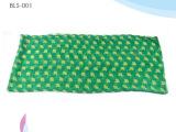 春季新款田园风格苹果图案绿色巴厘纱围巾 可来样定制