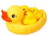 小号网袋鸭 带三只小鸭 网鸭捏捏叫 子母鸭 洗澡戏水儿童玩具批发