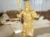 河南坐财神铜像、恒保发铜雕财神