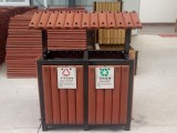 西安创汇透气环保景观双筒垃圾箱花箱沙制品花箱支持定制
