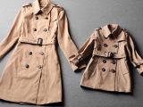 尺寸修改 欧洲站2014秋冬季女装新款 双排扣修身亲子装风衣10