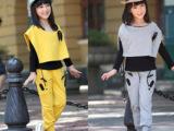 品牌童装 春季韩版童装 休闲时尚女童套装 卡通熊儿童套装批发