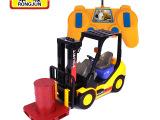 儿童遥控工程车 充电电动铲车模型 小孩玩具车六通无线遥控车模型