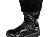 2013新款国际大牌外贸原单lovely漆皮女童骑士靴拉链马丁靴