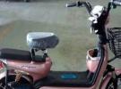 9.5成玫瑰金色迷你踏板电动车小踏板900元