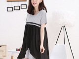 孕妇哺乳装 时尚韩版哺乳裙 夏季外出喂奶衣 喂奶连衣裙