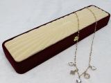 高档植绒项链盒 饰品包装 礼品手链盒绒布首饰盒 厂家批发供应