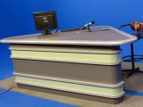 耀诺演播室播音桌 广播桌 直播桌 访谈桌 演播桌