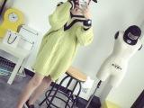 东大门韩版女式新款毛衣外套 前后V字领大麻花宽松版型舒适针织衫