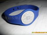 10000起批的环保OPP袋装镭射钮扣负离子硅胶手环