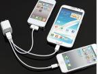 一拖三万能手机数据线 USB三合一多功能充电器 iphone5苹果4s三星