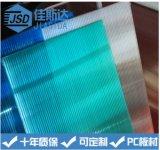 厂家 防紫外线 防雾滴防透明PC阳光板 隔层中空板定制加工