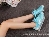 运动鞋女新款品牌透气网面时尚增高nb鞋真皮韩版运动鞋女广州批发