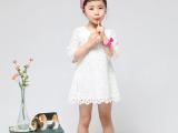 2014最新最火爆韩版童装 女童蕾丝中袖连衣裙 公主裙 厂家直销