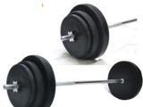 杠铃 45公斤 包胶哑铃杠铃哑组合套装 杠铃 (30-120)