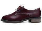 东帝名坊 2014春季新款英伦风粗跟单鞋低跟女鞋子