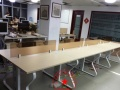 定做德州办公桌临邑办公家具定做员工工位一对一辅导桌办公椅