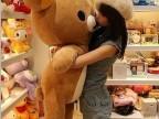 【诚信为本】大号165CM站姿轻松熊毛绒玩具公仔 送女生礼物