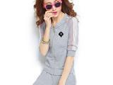 夏季宽松休闲套装女夏 中袖2015韩版大码运动女装女士运动服装
