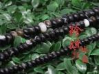 磨砂天然水晶饰品配件黑缠丝玛瑙算盘珠 隔