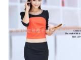 2014秋冬新款 韩版女装 长袖修身气质包臀打底裙连衣裙8599