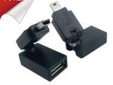 360度旋转 车载音响迷你USB公转USB母转接头 mini U