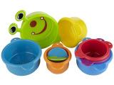 Munchkin洗澡玩具/毛毛虫堆叠杯/戏水套杯/曲折海蛇/获奖