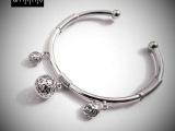 花纹镂空玲珑泰银风格空管手饰 女士款式 925纯银手环 品质保证